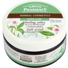 Green Pharmacy Body Care Tea Tree & Green Clay Salz-Peeling (0% Parabens, Silicones, SLES, SLS) 300 ml