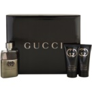 Gucci Guilty Pour Homme подаръчен комплект IV. тоалетна вода 50 ml + балсам след бръснене 50 ml + душ гел 50 ml
