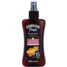 Hawaiian Tropic Protective vízálló védő és száraz napozó olaj SPF 15  200 ml