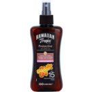 Hawaiian Tropic Protective wodoodporny suchy olejek ochronny do opalania SPF 15  200 ml