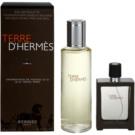 Hermès Terre D'Hermes подаръчен комплект XVI.  тоалетна вода пълнеща се 30 ml + тоалетна вода пълнител 125 ml