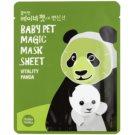 Holika Holika Magic Baby Pet revitalizacijska in posvetlitvena maska za obraz 16 ml