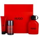 Hugo Boss Hugo Red darilni set III. toaletna voda 125 ml + Deo-Stick 75 ml + gel za prhanje 50 ml