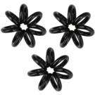InvisiBobble Nano Hair Boots 3 pcs True Black (Styling Hair Rings)