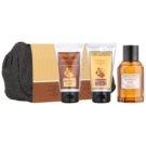 Jeanne en Provence Olive Wood & Juniper Geschenkset I.  Eau de Toilette 100 ml + After Shave Balsam 75 ml + Duschgel 75 ml + Kosmetiktasche
