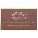 John Masters Organics Birch & Cedarwood Cleansing & Shaving Bar multifunkčné mydlo pre mužov a ženy (Made with Organic Palm and Coconut Oils) 128 g