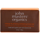 John Masters Organics Orange & Ginseng sanfte Peelingseife für den Körper (Made with Organic Palm and Coconut Oils) 128 g