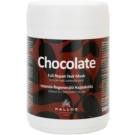 Kallos Chocolate mascarilla regeneradora para cabello seco y dañado (Full Repair Mask for Dry and Damaged Hair) 1000 ml