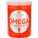 Kallos KJMN hranilna maska za lase z omega-6 kompleksom in makadamijevim oljem (Omega Rich Repair Hair Mask with Omega-6 Complex and Macadamia Oi) 1000 ml