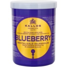 Kallos KJMN masca revitalizanta pentru par uscat, deteriorat si tratat chimic (Blueberry Revitalizing Hair Mask with Blueberry Extract and Avocado Oil) 1000 ml
