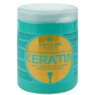 Kallos KJMN máscara com queratina (Keratin Hair Mask with Keratin and Milk Protein) 1000 ml