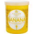 Kallos KJMN Fortifying Mask With Multivitamine Complex (Banana Fortifying Hair Mask with Multi-Vitamin Complex) 1000 ml