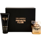 Karl Lagerfeld Private Klub darilni set I. parfumska voda 45 ml + losjon za telo 100 ml