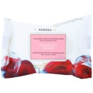 Korres Face Pomegranate Cleansing Napkins For Mixed And Oily Skin (Cleansing & Make-Up Removing Vipes) 25 pc