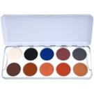 Kryolan Basic Eyes Eyeshadow Palette with 10 Shades Color Shading 25 g
