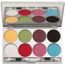 Kryolan Basic Eyes Palette mit Lidschatten in 8 Glitzerfarben  20 g