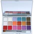 Kryolan Basic Eyes paleta očních stínů 18 barev odstín V1 Interferenz 20 g
