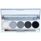 Kryolan Basic Eyes Palette mit 5 Lidschatten  inkl. Spiegel und Pinsel Farbton Berlin Matt/Iridescent 7,5 g