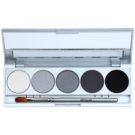 Kryolan Basic Eyes paletka cieni do powiek 5 kolorów z lusterkiem i aplikatorem odcień Berlin Matt/Iridescent 7,5 g