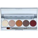 Kryolan Basic Eyes paletka cieni do powiek 5 kolorów z lusterkiem i aplikatorem odcień Casablanca Matt/Iridescent 7,5 g