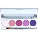 Kryolan Basic Eyes Palette mit 5 Lidschatten  inkl. Spiegel und Pinsel Farbton Paris Matt 7,5 g