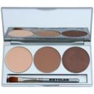 Kryolan Basic Eyes Palette mit Lidschatten inkl. Spiegel und Pinsel Farbton Smokey Caramel 7,5 g