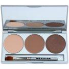 Kryolan Basic Eyes paleta farduri de ochi cu oglinda si aplicator culoare Smokey Caramel 7,5 g