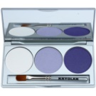 Kryolan Basic Eyes Eye Shadow Palette With Mirror And Applicator Color Smokey Purple 7,5 g