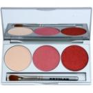 Kryolan Basic Eyes Palette mit Lidschatten inkl. Spiegel und Pinsel Farbton Smokey Rust 7,5 g