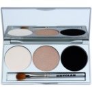 Kryolan Basic Eyes Eye Shadow Palette With Mirror And Applicator Color Smokey Sand 7,5 g