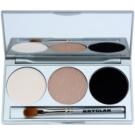 Kryolan Basic Eyes Palette mit Lidschatten inkl. Spiegel und Pinsel Farbton Smokey Sand 7,5 g