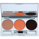 Kryolan Basic Eyes Palette mit Lidschatten inkl. Spiegel und Pinsel Farbton Smokey Terracota 7,5 g