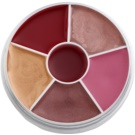 Kryolan Basic Lips paleta de brillos labiales (Lip Shine Circle) 30 g