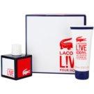 Lacoste Live Male zestaw upominkowy I. woda toaletowa 100 ml + żel pod prysznic 100 ml