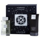 Lalique Hommage a L'Homme dárková sada I. toaletní voda 100 ml + sprchový gel 150 ml