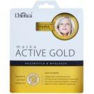 L'biotica Masks Active Gold Maske aus Stoff mit feuchtigkeitsspendendem Gel für klare und glatte Haut  25 g