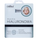 L'biotica Masks Hyaluronic Acid plátýnková maska s hydratačním a vyhlazujícím účinkem (Paraben & SLS Free] 23 ml