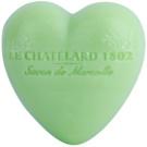 Le Chatelard 1802 Olive & Tilia Flowers мило у формі серця  25 гр