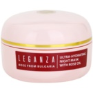 Leganza Rose mascarilla de noche hidratante (Bulgarian Rose Oil) 45 ml