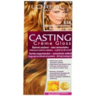 L'Oréal Paris Casting Creme Gloss farba na vlasy odtieň 834 Light Copper Gold Blonde