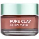L'Oréal Paris Pure Clay hámlasztó maszk (Glow Mask 3 Pure Clays + Red Algae) 50 ml