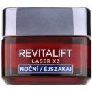L'Oréal Paris Revitalift Laser X3 crema regeneratoare de noapte impotriva imbatranirii pielii (Centella Asiatica + 3% Pro-Xylanu) 50 ml