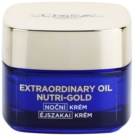 L'Oréal Paris Nutri-Gold Creme de noite radiante com máscaras de intensidade Essential Oils + Royal Jelly - Light Texture, Silky Soft) 50 ml