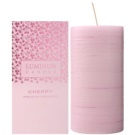 Luminum Candle Premium Aromatic Cherry vela perfumada    decorativa, grande (Pillar 70 - 130 mm, 65 Hours)