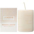Luminum Candle Premium Aromatic Sandallwood Duftkerze    verziert, mittelgroß (Pillar 60 - 80 mm, 32 Hours)