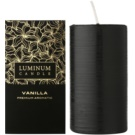 Luminum Candle Premium Aromatic Vanilla Scented Candle   Large (Pillar 70 - 130 mm, 65 Hours)