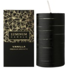 Luminum Candle Premium Aromatic Vanilla dišeča sveča    okrašena velika (Pillar 70 - 130 mm, 65 Hours)