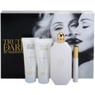 Madonna Truth or Dare darilni set I. parfumska voda 75 ml + losjon za telo 75 ml + gel za prhanje 75 ml + mini roller ball 10 ml