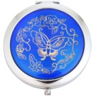 Magnum Feel The Style Cosmetic Mirror Round 128 Blue (Pocket Mirror Eastern Ornaments Nickel Base 7 cm)