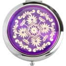 Magnum Feel The Style espelho cosmético redondo 128 B Purple (Pocket Mirror Eastern Ornaments Nickel Base 7cm)